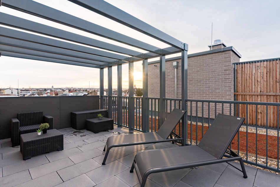 1-bedroom apartment with roof terrace